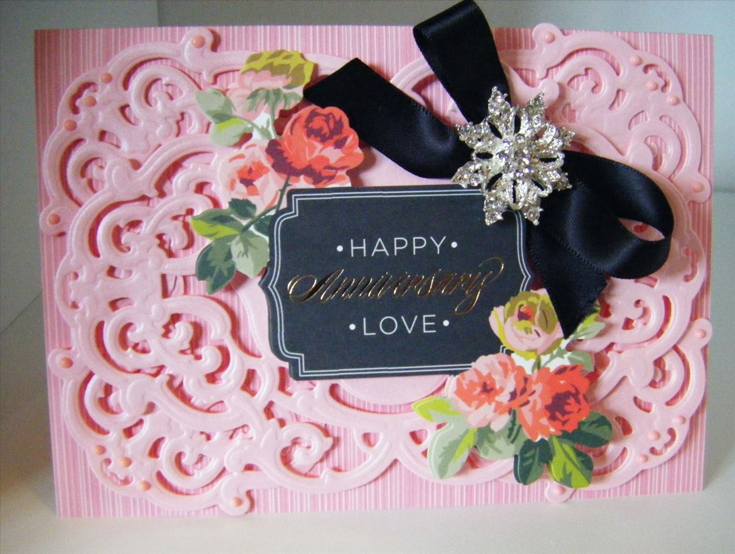 How to Make Pink Vintage Ornate Frame Topper Card