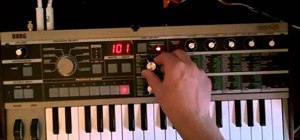 Create  a trance pluck / lead on a MicroKorg synth / vocoder