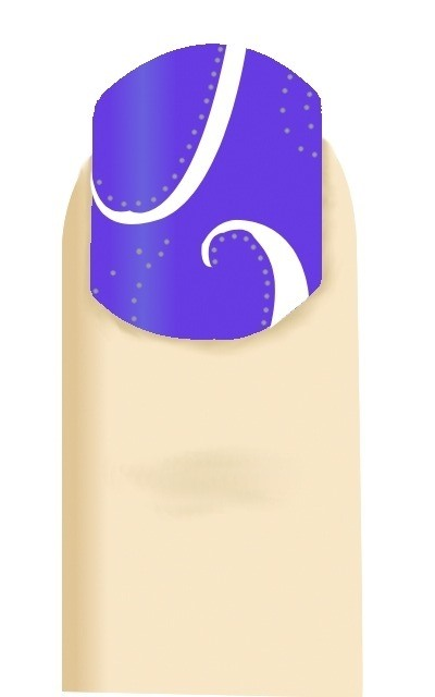Nail Art- Blue with Sparkly White Swirls