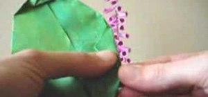 Origami foxglove flowers