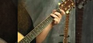 Learn proper finger placement on an acoustic guitar