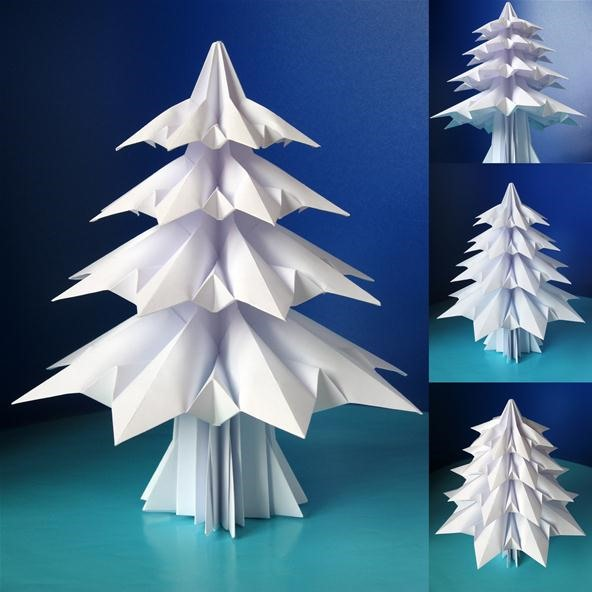 Holiday Project: Origami Christmas Trees