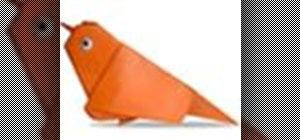 Origami a sparrow Japanese style