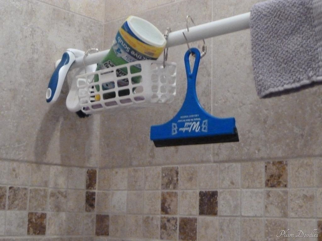 Use Extra Shower Curtain Rods To Increase Bathroom Storage More