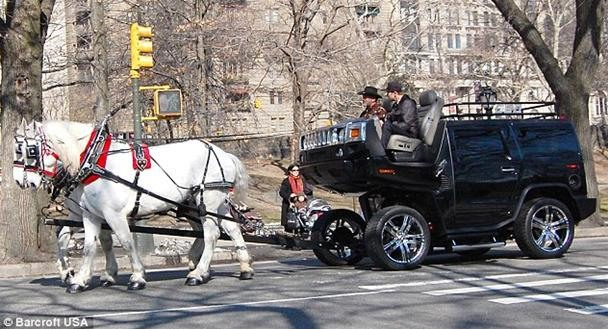 Artist Converts Hummer Into Horse-Drawn Stagecoach