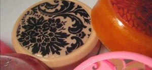 Craft molded designer soaps with intricate templates