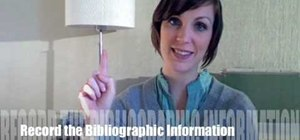Write an annotated bibliography with 4 easy tips