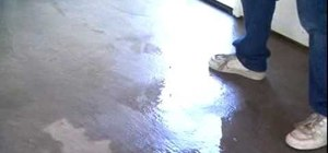 Apply epoxy sealer to your garage floor