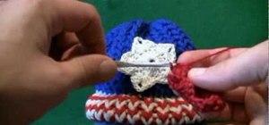 Create a crochet American star for left handers