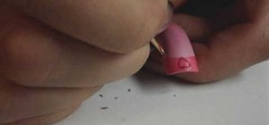 Paint a Valentine's French tipped nail