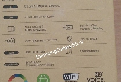 Solid Details on the Samsung Galaxy S5 Emerge as Its Release Date Approaches