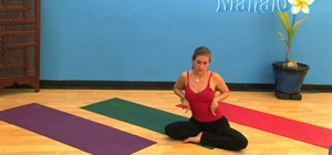 Release neck and shoulder tension with a yoga exercise