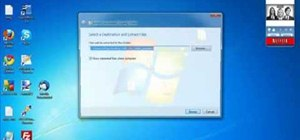 Unzip a file in Microsoft Windows 7