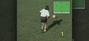 Practice target passing for soccer