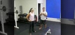 Strengthen legs with a leg circuit workout