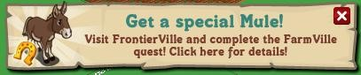 FarmVille/ FrontierVille Brown Mule