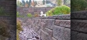 Build a patterned retaining wall with Allan Blocks