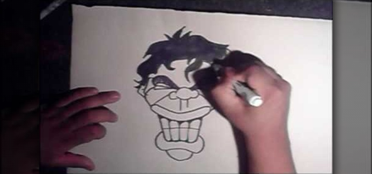 How To Draw A Smiling Graffiti Style Face Graffiti Urban Art