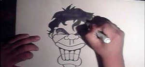 Draw a smiling graffiti style face
