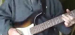 Play Stevie Ray Vaughan riffs on electric guitar