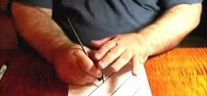 Properly hold your pen to paper in calligraphy