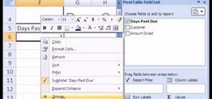 how to make an aged accounts receivable report in ms excel