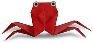 Make an origami crab for beginners