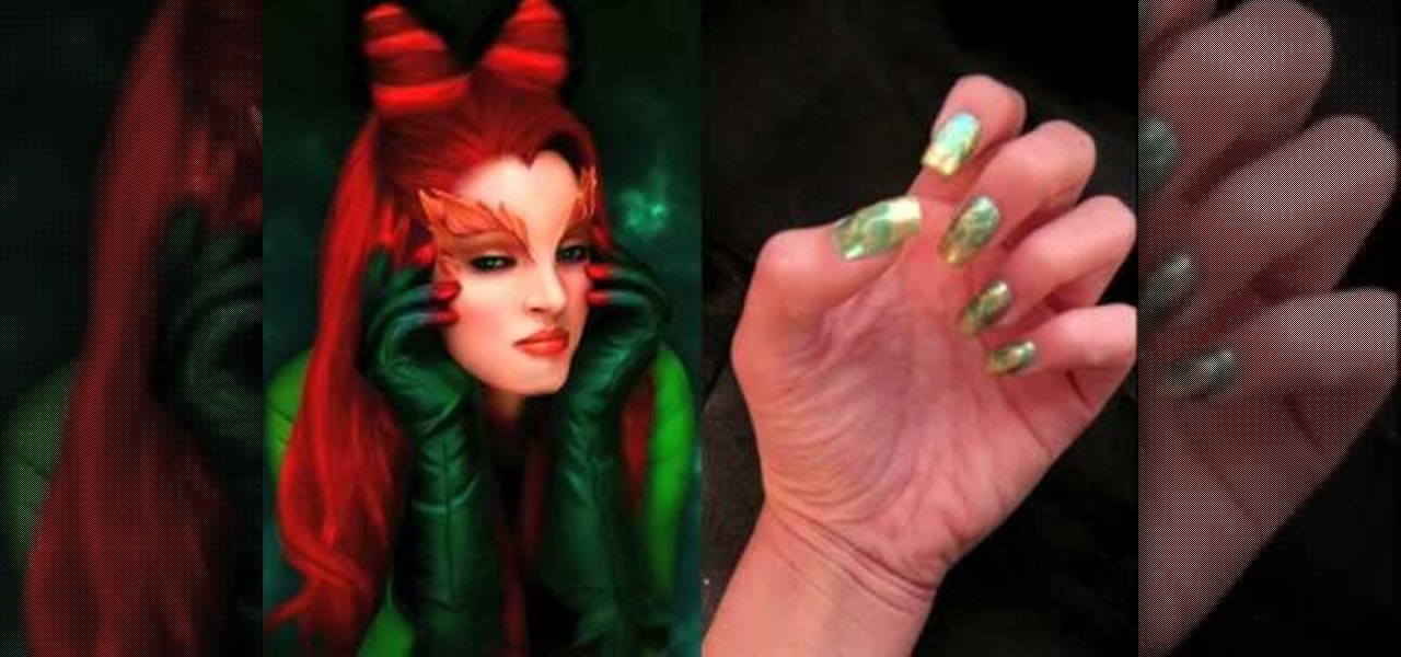 How to Create Poison Ivy theme nail art « Nails & Manicure ...