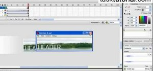 Create a header appearance animation w/ sound in Flash