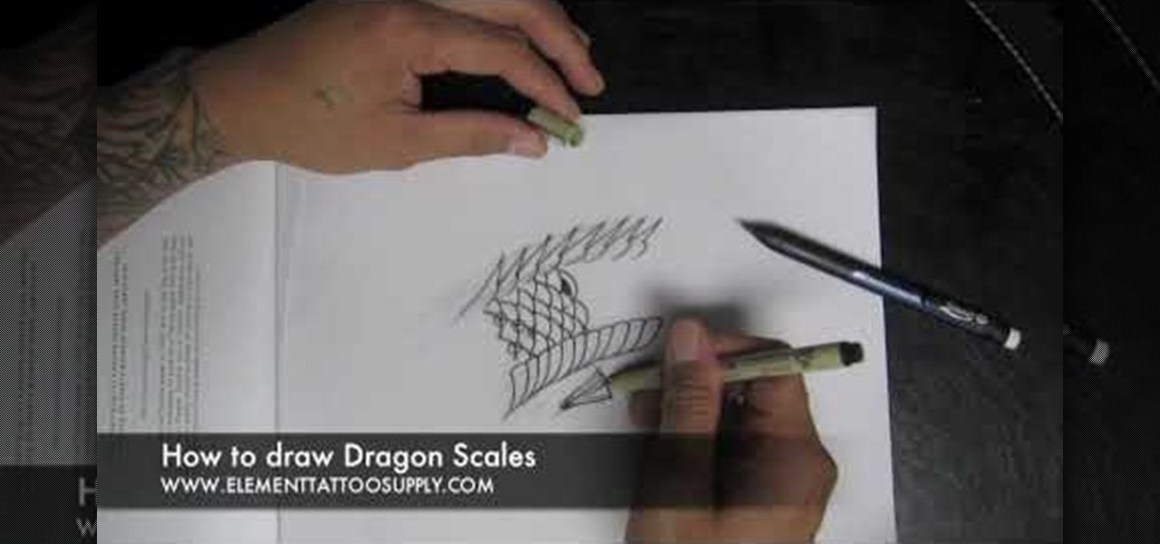 How To Draw Scales For A Dragon Or Khoi Fish Tattoo Tattoo Wonderhowto