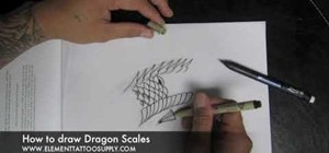 Draw scales for a dragon or khoi fish tattoo