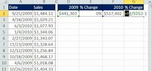 Sum year over year sales using MS Excel's SUMPRODUCT