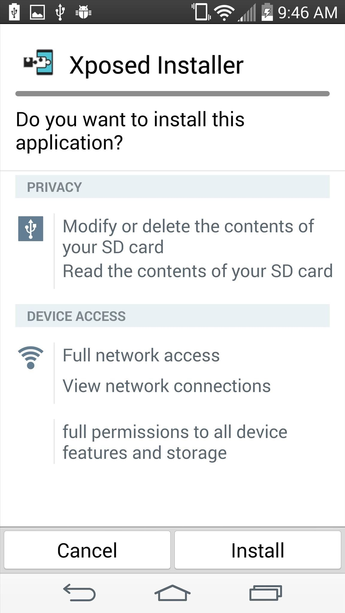 installateur xposed lg g3