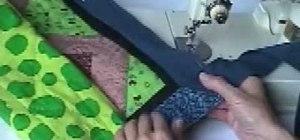Miter a corner on quilt binding