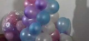 Make a balloon column for a party