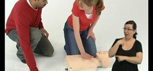 Perform CPR on children [signed] (British Red Cross)