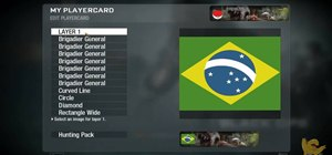 Draw the Brazilian flag in the Black Ops Emblem Editor