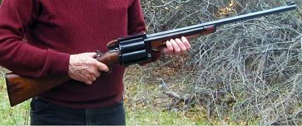 Hybrid Revolver Shotgun Hacked Together from Spare Gun Parts