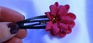 Make a flower out of ric rac or decorative ribbon