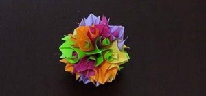 Make an 18-unit curler kusudama with origami