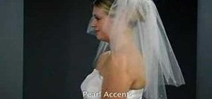 Add accents to a bridal veil