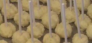 Make miniature iced cheesecake pops on a stick