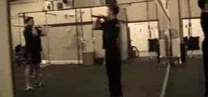 Execute a power clean and push jerk