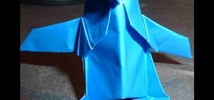 Make an origami 3D penguin by Kawamura Akira