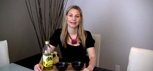 Make a hydrating olive oil and honey hair mask