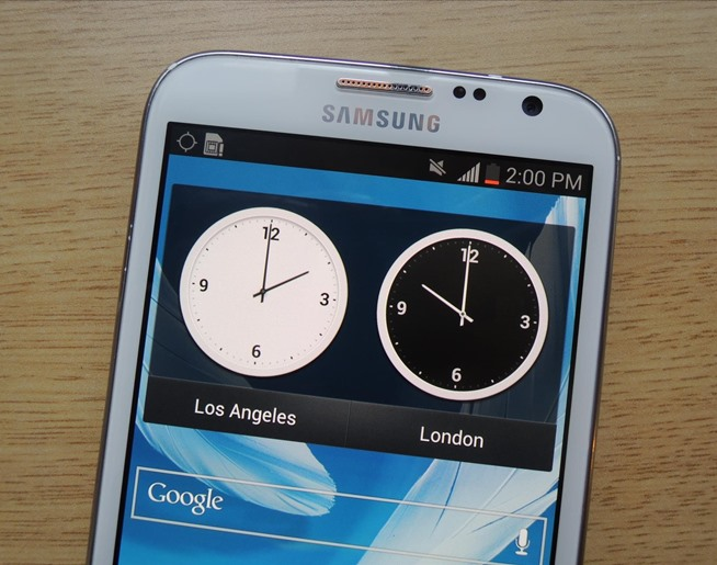 How to Add a Second Status Bar Clock on Your Samsung Galaxy Note 2 for