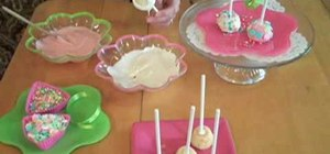 Make springtime/Easter white chocolate cupcake pops