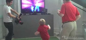 Little Kid gets down with Kinect