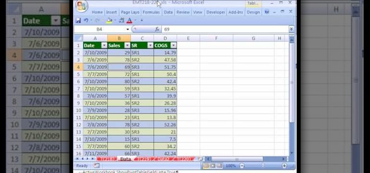 how to use get pivot data functino excel