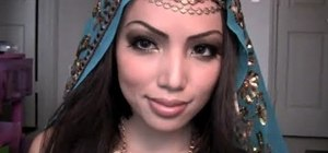 Create a gorgeous exotic Arabian princess makeup look